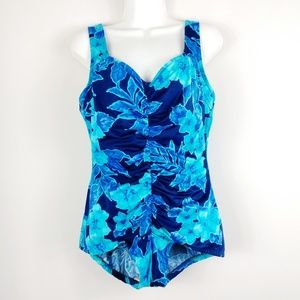 Maxine of Hollywood Floral 1-Piece Bathing Suit